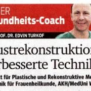 Kurier Gesundheitscoach Prof. Turkof Wien