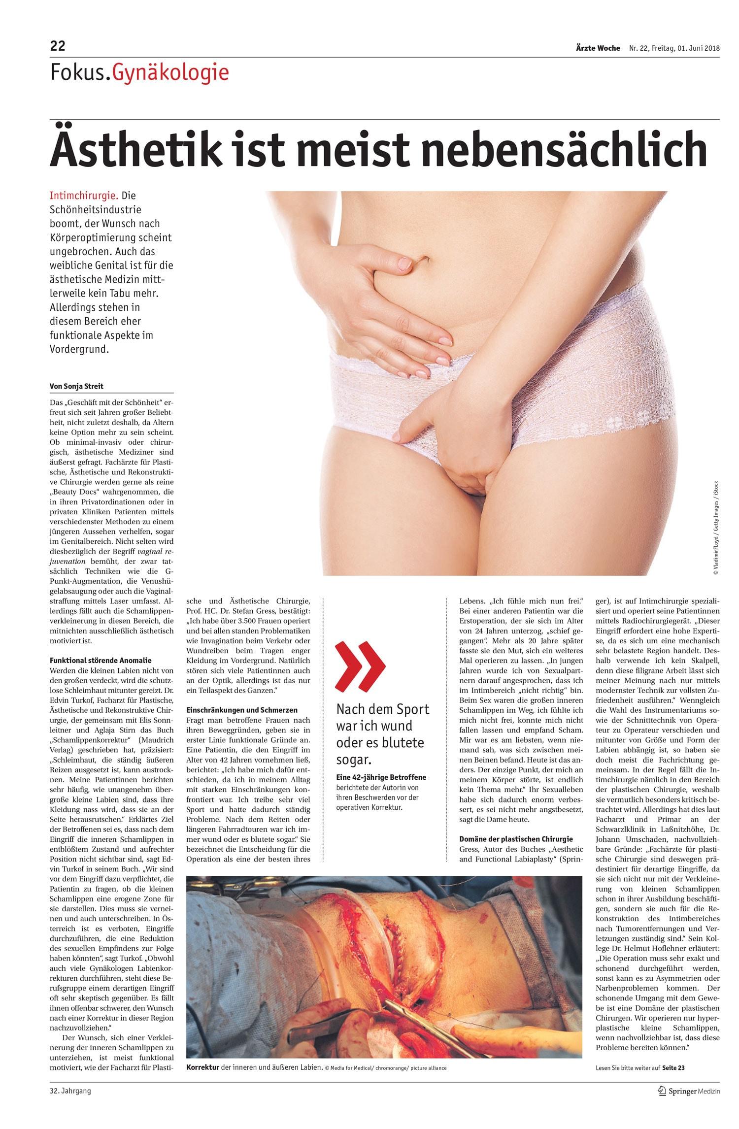 Artikel aus der Ärzte Woche Nr. 22 vom 1. Juni 2018 von Sonja Streit-S.1