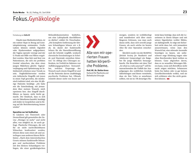 Artikel aus der Ärzte Woche Nr. 22 vom 1. Juni 2018 von Sonja Streit - S.2